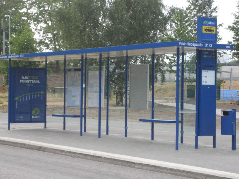 boring bus stop